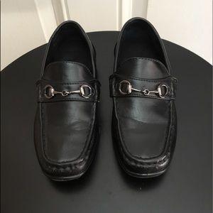 Deer Stags Black Slip On Loafers
